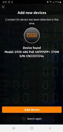 Confirm and add your device