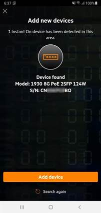 Confirm your device